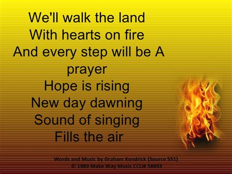 551 Let The Flame Burn Brighter (we'll Walk The Land