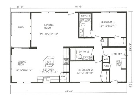 open floor house plans two 2 bedroom house plans open floor plan gallery also