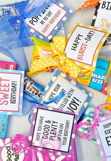 Candy Bar Sayings for Simple Birthday Gifts Candy bar