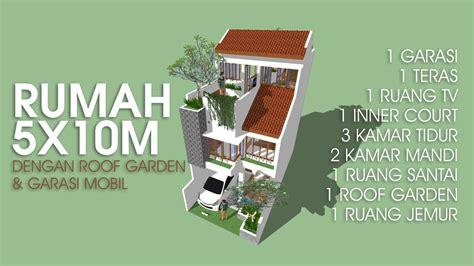 desain rumah xm  roof garden  carport youtube