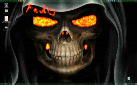 Skull Animated Wallpaper - linux skull animated wall paper fedora 14