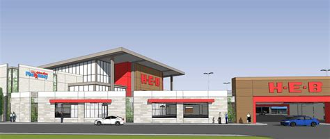 A Look Around The Double-decker H-e-b And Parking Lot
