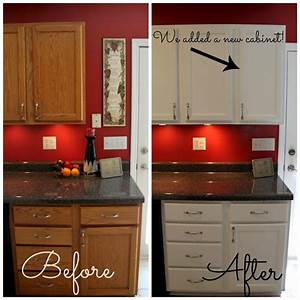 How to paint cabinets dark countertops red kitchen and for Kitchen colors with white cabinets with guitar canvas wall art