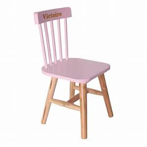 Chaise Enfant Personnalisé : chaise enfant rose personnalis e une id e de cadeau original amikado ~ Teatrodelosmanantiales.com Idées de Décoration