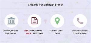 Citibank Punjabi Bagh Ifsc Code Citi0000031