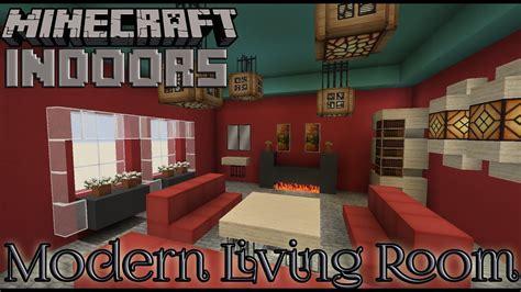 modern living room  red minecraft indoors interior design youtube