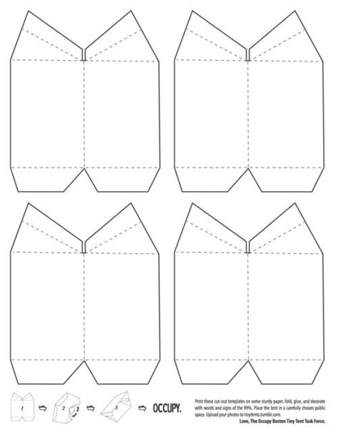 triangle tent card template tiny tent template craft ideas tents