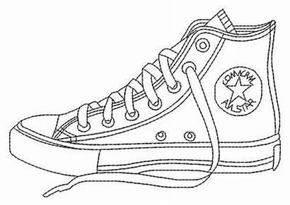 Coloring Pages Shoe Shoes Converse Printable Adult