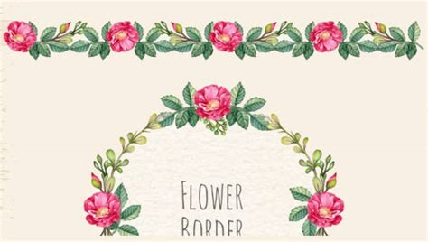 flower border templates psd vector eps ai