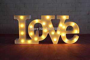 aliexpresscom buy quotlovequot red led marquee sign light up With lighted marquee letters wholesale