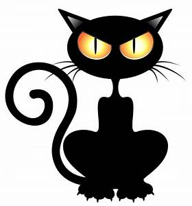 Halloween Black Cat Clipart - ClipartXtras