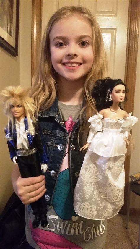 father customizes  barbie dolls  sarah