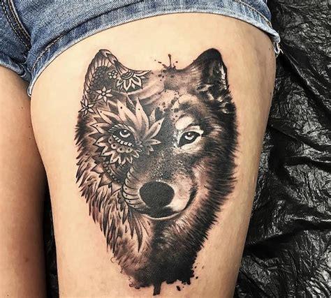 Tatouage Tete De Loup Homme