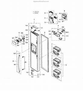Parts For Samsung Rs25h5111sr  Aa    Freezer Door