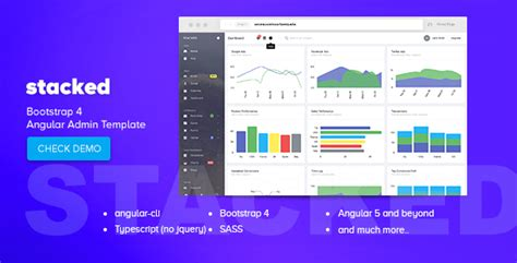 ng template angular 4 stacked bootstrap 4 angular admin template stacked bootstrap 4 angular admin