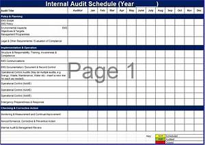 8 free sample audit schedule templates printable samples for Internal audit schedule template