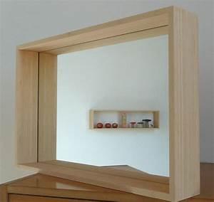 Miroir Cadre Bois : miroir encastr dans un cadre en bois massifdimensions 600 x 400 mmprofondeur 90 mmsyst me ~ Teatrodelosmanantiales.com Idées de Décoration