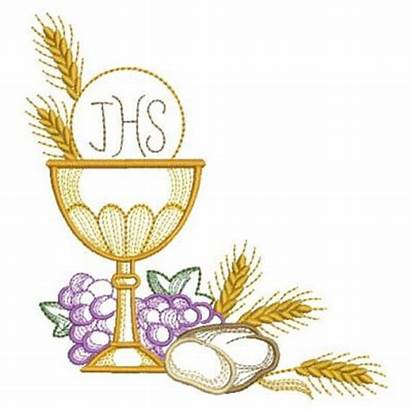 Communion Holy Machine Comunion Embroidery Clipart Chalice