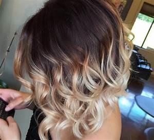 Ombré Hair Blond Foncé : ombr hair pour cheveux mi longs choisissez votre mod le coiffure simple et facile ~ Nature-et-papiers.com Idées de Décoration