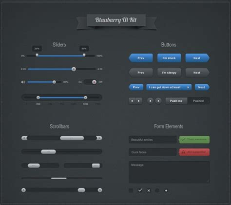 slim modern ui buttons pack welovesolo