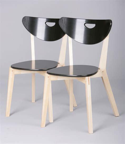 chaise de cuisine but chaises de cuisine bois massif coloris noir lot de 2