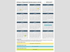 Academic Calendars 20162017 As Free Printable Word