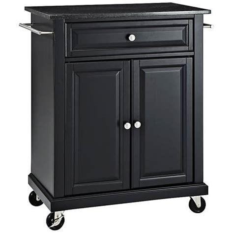 black kitchen island cart york black granite top black 2 door kitchen island cart 4705