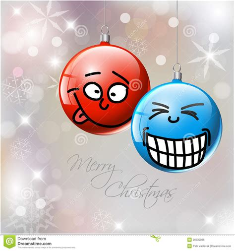funny christmas baubles vector baubles with faces stock vector image 26530086
