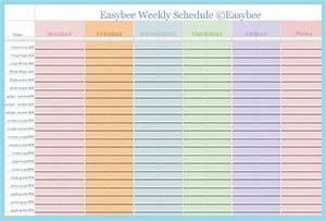 Weekly Planner Excel Weekly Schedule Template Google Docs Printable Receipt