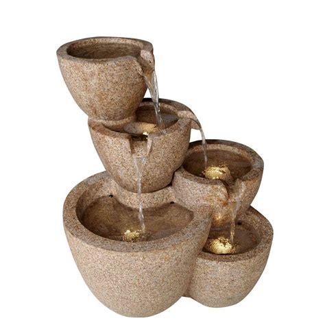 fountain cellar multi pots sandstone outdoor indoor water
