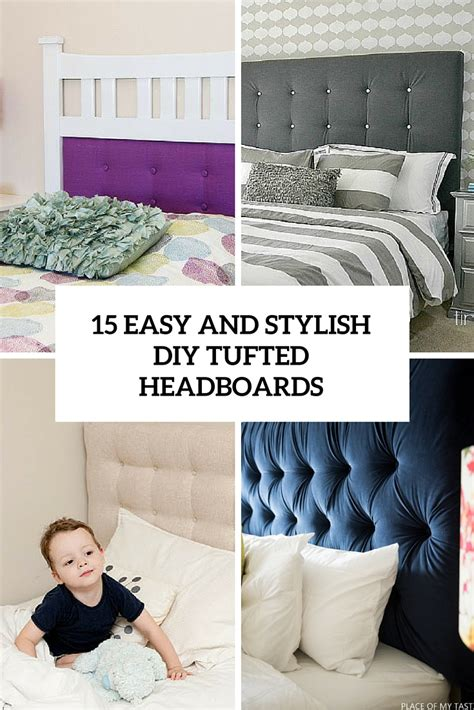 pictures of bedrooms decorating ideas 15 easy and stylish diy tufted headboards for any bedroom