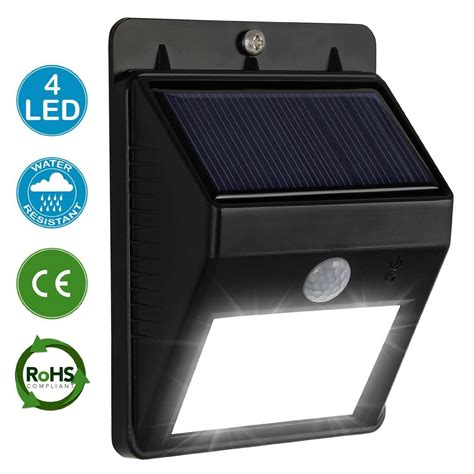 solar powered led security lights bright led solar powered outdoor security garden solar