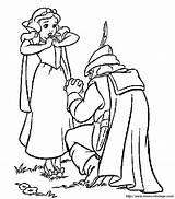 Blanche Neige Chasseur Dessin Coloriage Biancaneve Coloring Snow Colorare Disegni Imprimer Dwarfs Gratuit Disney Nains Seven Cacciatore Colorier Sept Bojanke sketch template