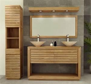 achat meuble de salle de bain emine walk meuble en teck With meuble salle de bain teck 180 cm