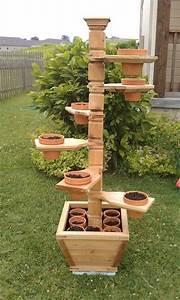 Woodworking Build your own outdoor plant stand Plans PDF