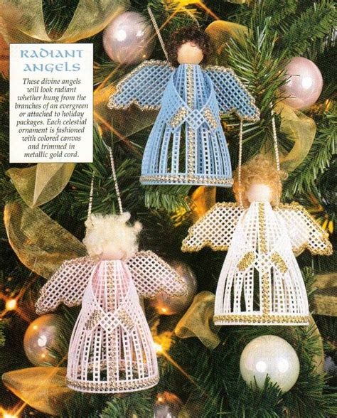 radiant angels christmas ornaments plastic canvas pattern
