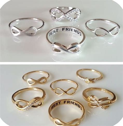 Friendship Rings For 3 Friendship Rings My Style Pinterest