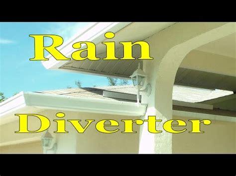 install rain water diverter  asphalt shingle roof youtube