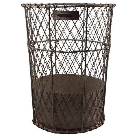 large norwich wire works trash waste can at 1stdibs