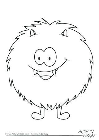 cute monster coloring pages monster colouring pages cute