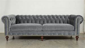Chesterfield Sofas : quick ship classic chesterfield in cannes grey cloud ~ Pilothousefishingboats.com Haus und Dekorationen