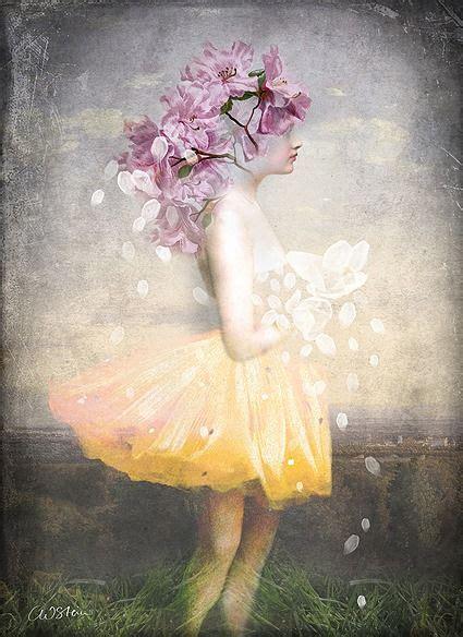Yellow Dress Flowers Catrin Welz Stein Abstract