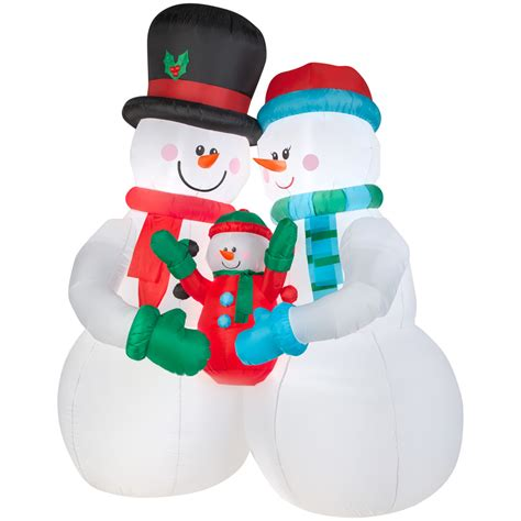 shop holiday living 10 ft x 4 59 ft lighted snowman