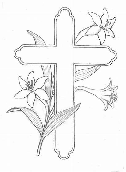 Pages Coloring Easter Religious Printable Drawing Jesus