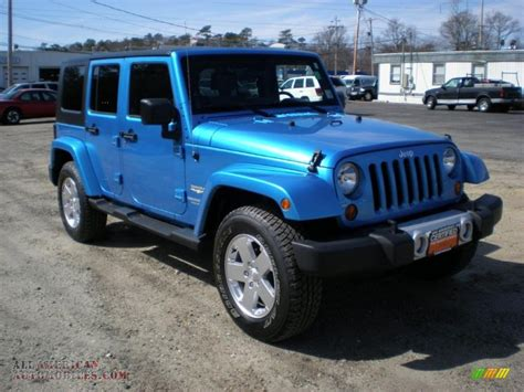 jeep surf 2010 jeep wrangler unlimited sahara 4x4 in surf blue pearl