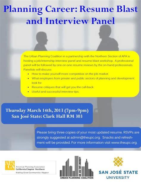 Sjsu Resume Blast by Upc Resume Blast Skills Panel Event Planning Coalition Sjsu