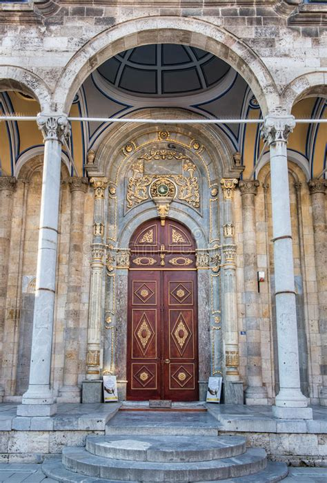 mosque entrance  doors open stock photo image