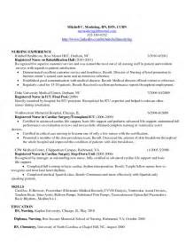 comprehensive resume for nurses comprehensive resume sle for nurses