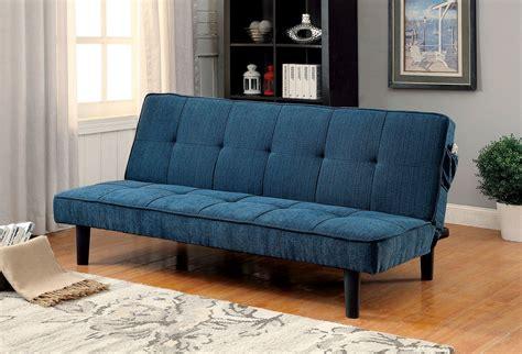 denny dark teal futon sofa  furniture  america