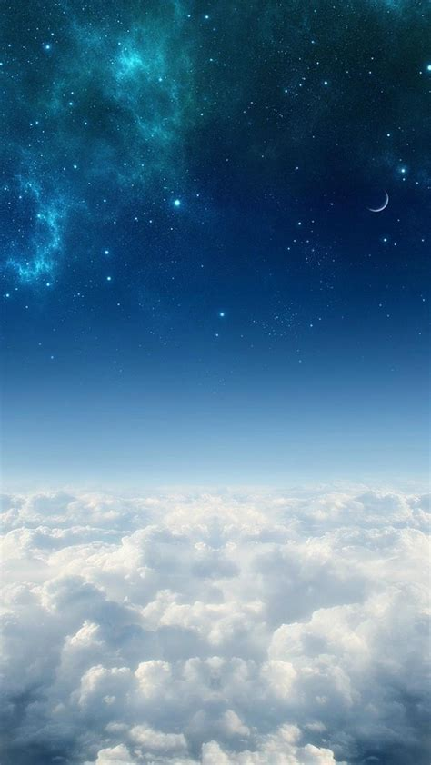 clouds outer space stars skies wallpaper